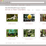 Arts in the Garden - PSD MockUp for the New York Botanical Garden - Web & Graphic Designer from NYC